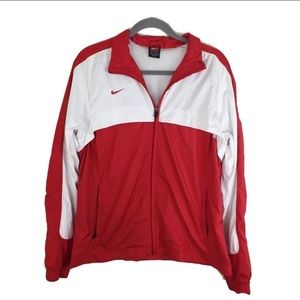 NIKE CARDINALS Red and White Sports Jacket Size XL